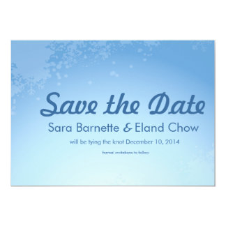 Winter Wedding 5x7 Save the Date Card