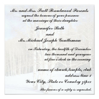Winter Wedding Aspen Trees in Snow Card