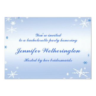 Winter Wedding Bachelorette Party Card