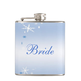 Winter Wedding Bride Hip Flask