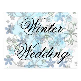 Winter wedding Invitation Postcard