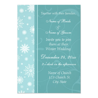Winter Wedding Photo Invitation Cards