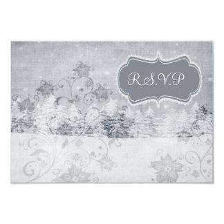 winter wedding rsvp cards standard 3.5 x 5 9 cm x 13 cm invitation card
