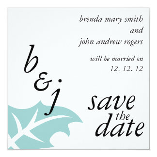 "Winter Wedding Save the Date Announcements 5.25"" Square Invitation Card"