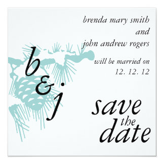 Winter Wedding Save the Date Announcements Pine