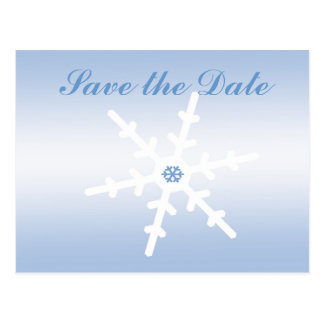 Winter Wedding Save the Date Postcard