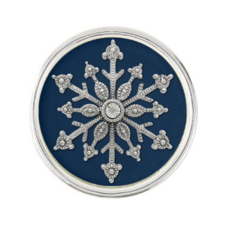 Winter Wedding Snowflake Tie Pin Lapel Pin