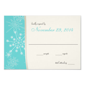 Winter Wedding Snowflakes Card