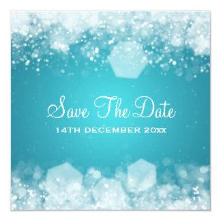 Winter Wedding Sparkling Night Blue Card
