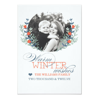 Winter Wishes Card (Today's Best Award) 13 Cm X 18 Cm Invitation Card