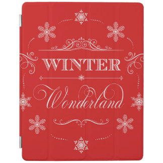 Winter Wonderland Red and White Christmas Snow iPad Cover