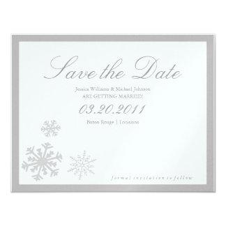 Winter Wonderland Save the Date 11 Cm X 14 Cm Invitation Card