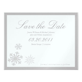Winter Wonderland Save the Date Card
