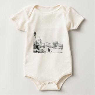 Winterscene at Spuipoort by Jacob van Strij Baby Bodysuit