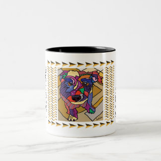 Wire-haired Jack Russell Terrier Two-Tone Coffee Mug