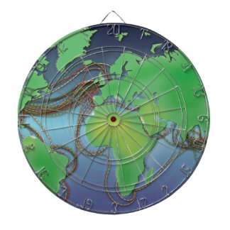 Wires of the World - Undersea Cables Dartboard