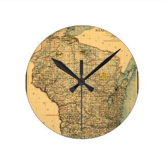Wisconsin 1896 round clock