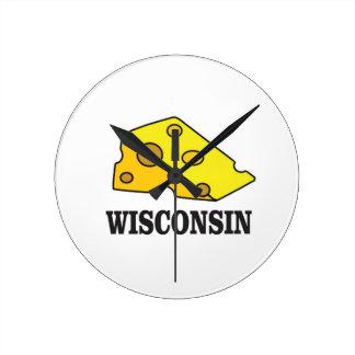 Wisconsin cheese head round clock