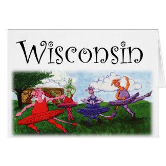 Wisconsin Dancing Cows Card