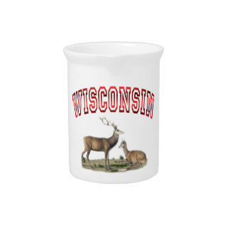 Wisconsin deer scene Pitcher 19oz.