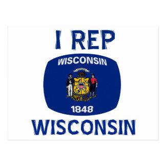 Wisconsin  Design Postcard