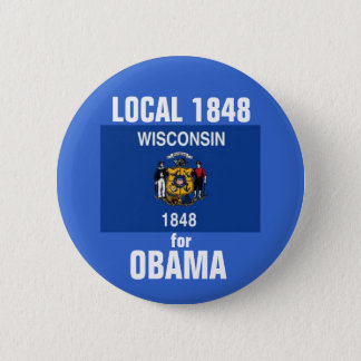 Wisconsin for Obama 2012 6 Cm Round Badge