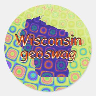 Wisconsin Geocaching Supplies Stickers Geoswag