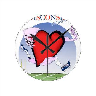 wisconsin head heart, tony fernandes round clock