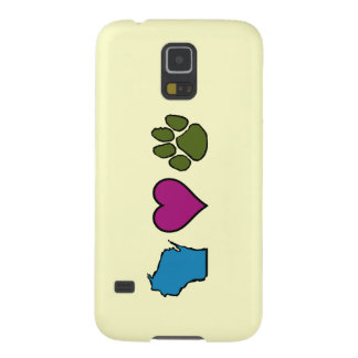 Wisconsin Hearts Animals Galaxy S5 Cover