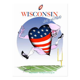 wisconsin loud and proud postcard