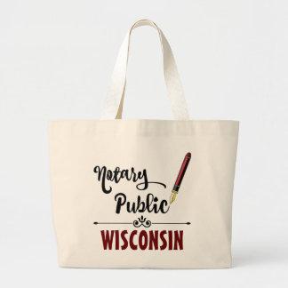 Wisconsin Notary Public Ink Pen Jumbo Tote Bag
