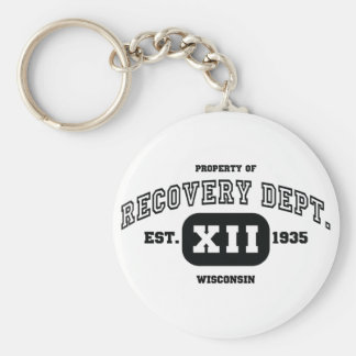 WISCONSIN Recovery Basic Round Button Key Ring