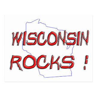 Wisconsin ROCKS Postcard