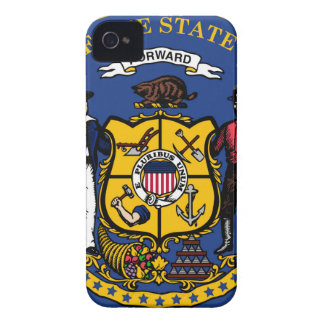 Wisconsin state seal.jpg iPhone 4 Case-Mate cases