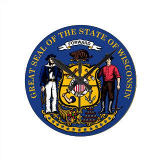 Wisconsin state seal.jpg round clock