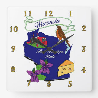 Wisconsin State Wall Clock