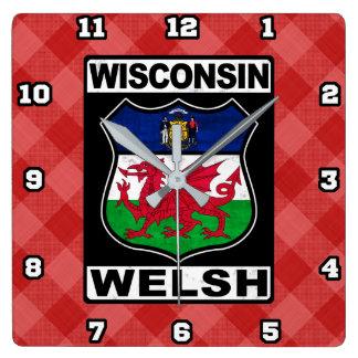 Wisconsin Welsh American Wall Clock