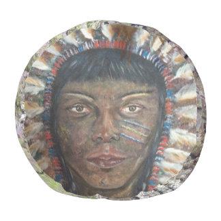 """Wisdom"" Native American Headdress/Bark Pouf"