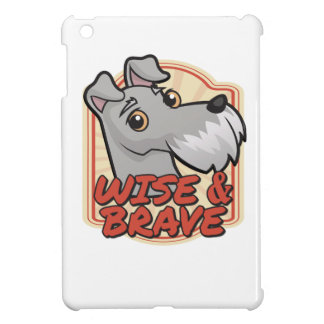 Wise and Brave Schnauzer iPad Mini Cases