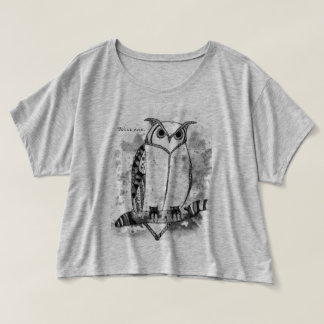Wise One Patterned Art Design Owl T-Shirt