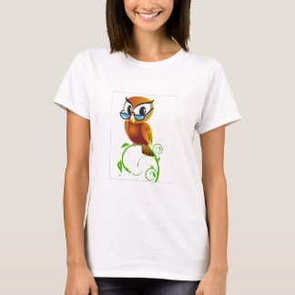 Wise owl with glasses T-Shirt