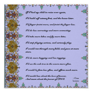 Wise Quote How to Raise Children Poster