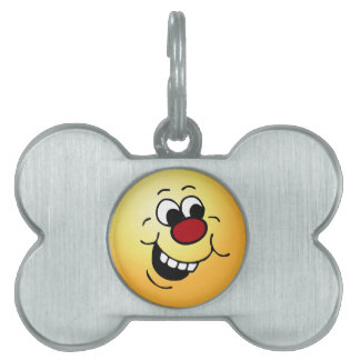 Wise Smiley Face Grumpey Pet Tag