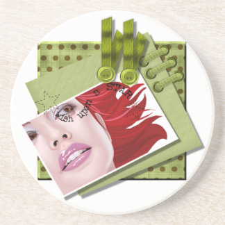 Wish Upon A Star - Sandstone Drink Coaster