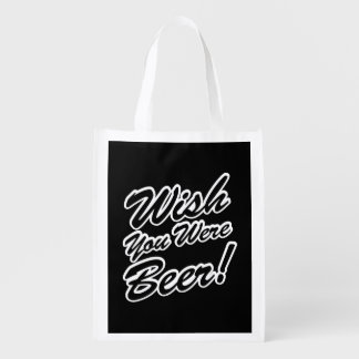Wish You Were Beer! Reusable Grocery Bag