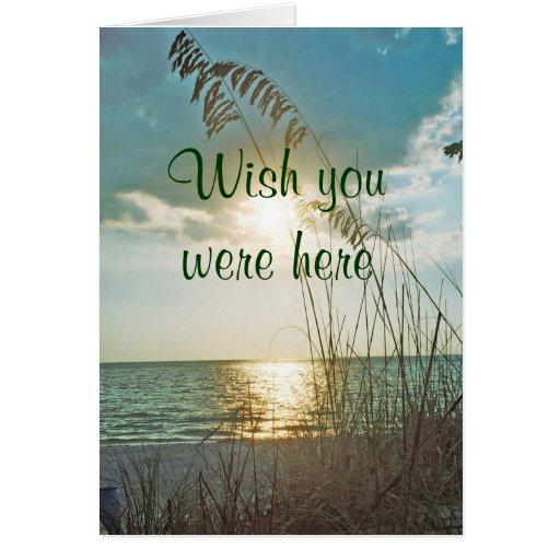 Wish You Were Here Treasure Island Card