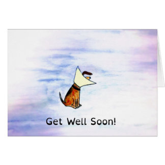 Wishes For A Wet Nose And Wagging Tail Soon! Card