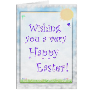 Wishing A Happy Easter Card