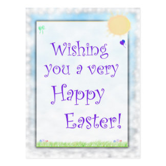 Wishing A Happy Easter Postcard