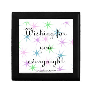 Wishing for you everynight small square gift box